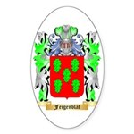 Feigenblat Sticker (Oval)