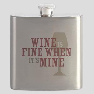 Wine is Fine Flask
