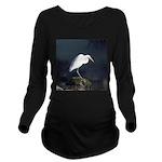 Great Egret Long Sleeve Maternity T-Shirt