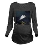 Great Egret Long Sleeve Maternity T-Shirt