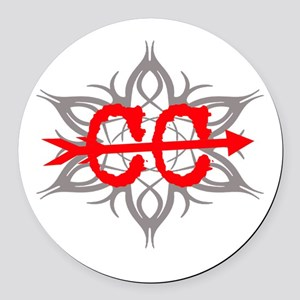 Cross Country Tribal Round Car Magnet