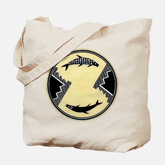 MIMBRES CLOCKWISE FISH BOWL DESIGN Tote Bag