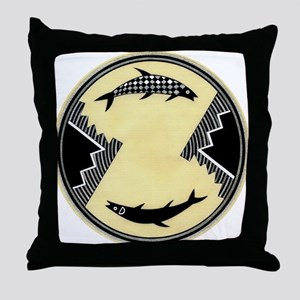 MIMBRES CLOCKWISE FISH BOWL DESIGN Throw Pillow