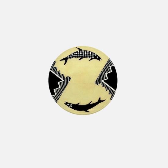 MIMBRES CLOCKWISE FISH BOWL DESIGN Mini Button