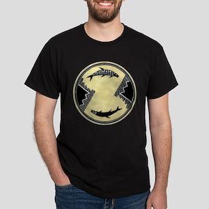 MIMBRES CLOCKWISE FISH BOWL DESIGN Dark T-Shirt