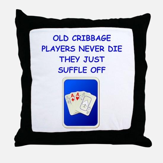 CRIBBAGE3 Throw Pillow