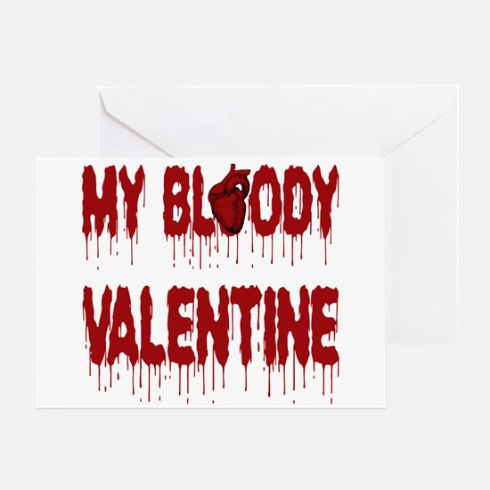 My Bloody Heart Valentine Greeting Cards