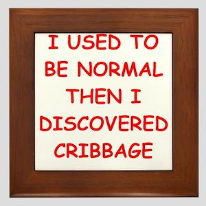 cribbage Framed Tile