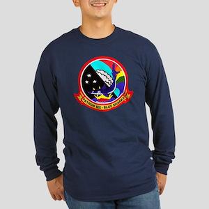 VP 6 Blue Sharks Long Sleeve Dark T-Shirt