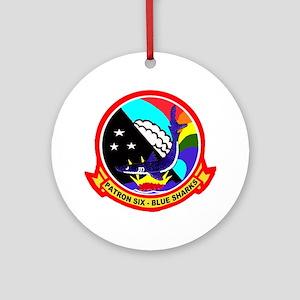 VP 6 Blue Sharks Ornament (Round)