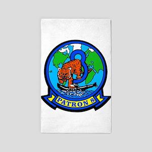 VP 8 Tigers (Blue) 3'x5' Area Rug