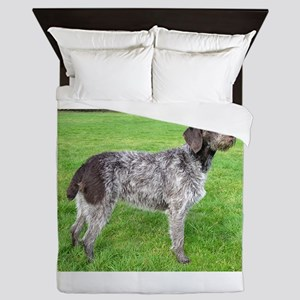 german wirehaired pointer liver full Queen Duvet
