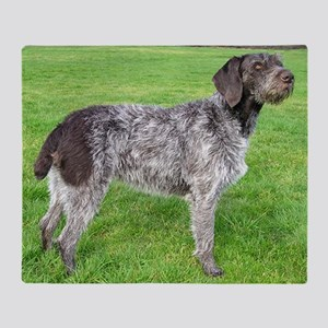 german wirehaired pointer liver full Throw Blanket