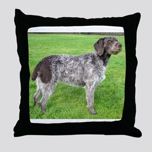 german wirehaired pointer liver full Throw Pillow