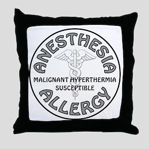 ANESTHESIA ALLERGY Throw Pillow