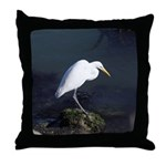 Great Egret Throw Pillow