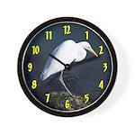 Great Egret Wall Clock