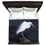 Great Egret King Duvet