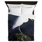 Great Egret Queen Duvet