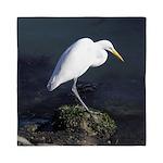 Great Egret Queen Duvet