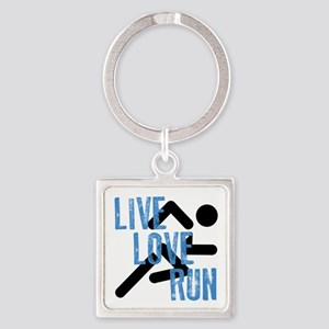 Live, Love, Run Keychains