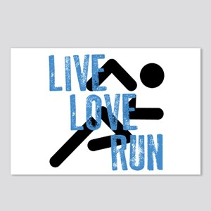 Live, Love, Run Postcards (Package of 8)