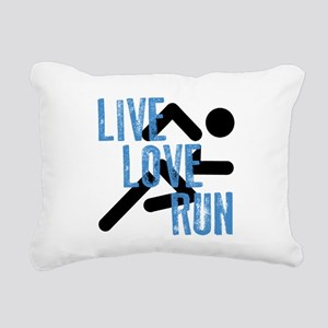 Live, Love, Run Rectangular Canvas Pillow