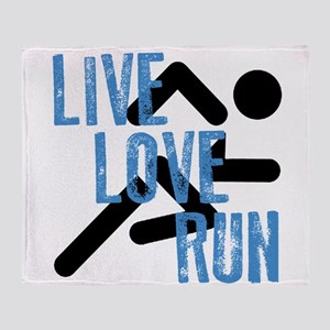 Live, Love, Run Throw Blanket