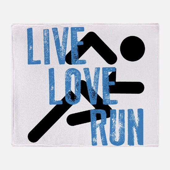 Live, Love, Run Throw Blanket