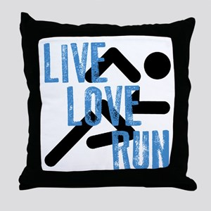 Live, Love, Run Throw Pillow