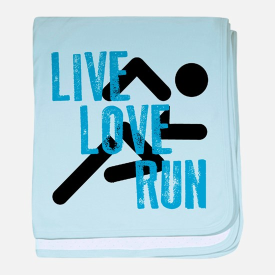 Live, Love, Run baby blanket
