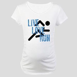 Live, Love, Run Maternity T-Shirt