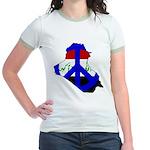 One Million Blogs for Peace Jr. Ringer T-Shirt