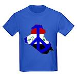 One Million Blogs for Peace Kids Dark T-Shirt