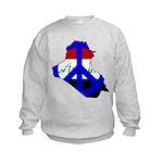 One Million Blogs for Peace Kids Sweatshirt