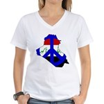 One Million Blogs for Peace Women's V-Neck T-Shirt