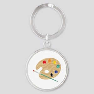 Painters Palette Keychains
