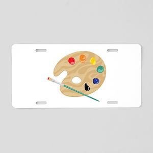 Painters Palette Aluminum License Plate