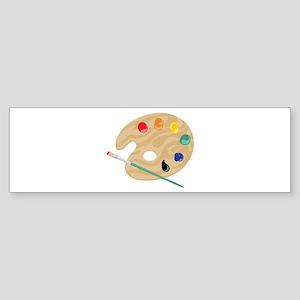 Painters Palette Bumper Sticker