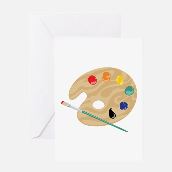 Painters Palette Greeting Cards
