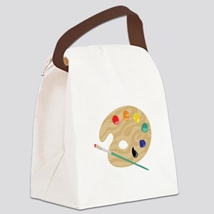 Painters Palette Canvas Lunch Bag