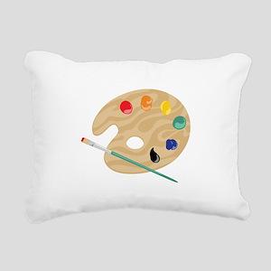 Painters Palette Rectangular Canvas Pillow