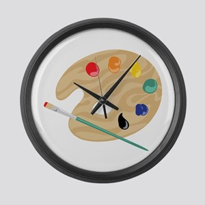 Painters Palette Large Wall Clock