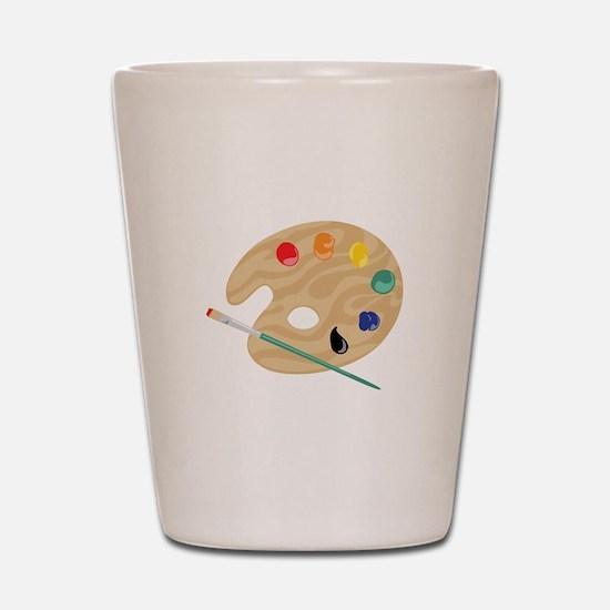 Painters Palette Shot Glass