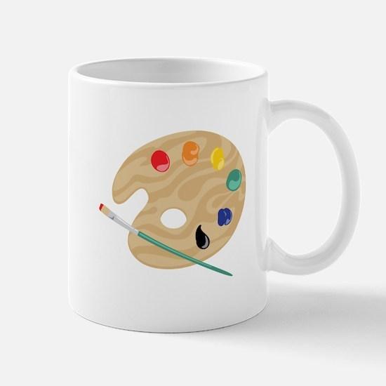Painters Palette Mugs
