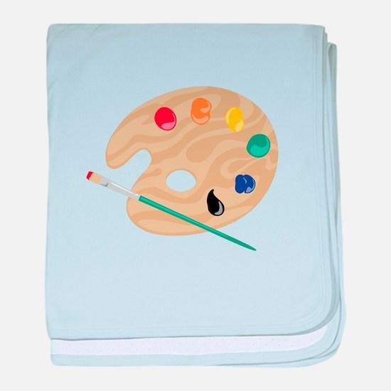 Painters Palette baby blanket