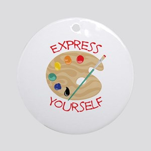 Express Yourself Ornament (Round)