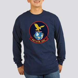 VP 1 Screaming Eagles Long Sleeve Dark T-Shirt