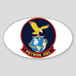 VP 1 Screaming Eagles Sticker (Oval)