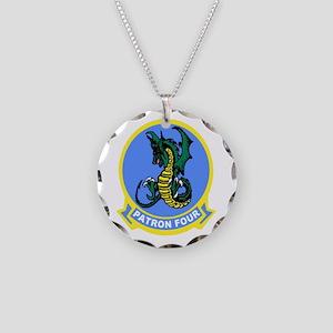 VP 4 Skinny Dragons Necklace Circle Charm